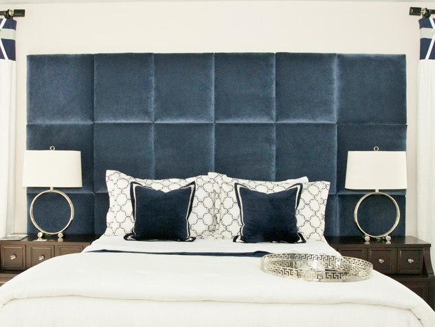 Custom Bedding, Headboard & Pillows