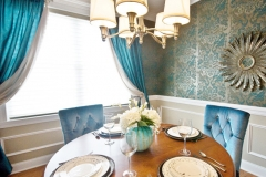Custom Draperies in the Dining Room