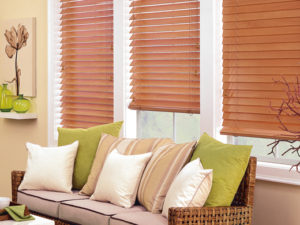 Parkland® Wood Blinds in the Living Room