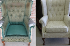 Before & After Reupholstered Chair