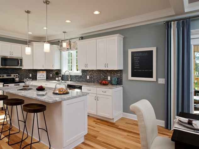 Duette® Top-Down/Bottom-Up Honeycomb Shades in the Kitchen