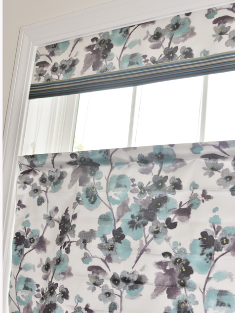 Custom Fabric Roman Shades