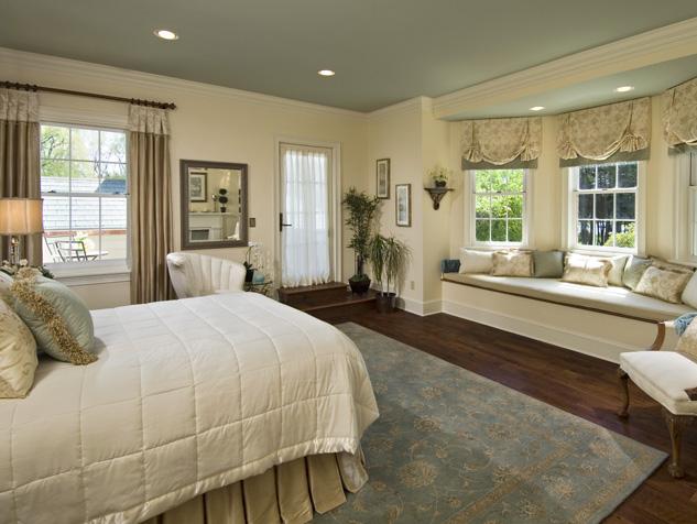 Custom Fabric Roman Shades in the Bedroom