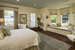 Custom Fabric Roman Shades in the Bedroom