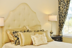 Custom Bedding, Headboard & Draperies