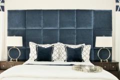 Custom Bedding, Headboard & Pillows