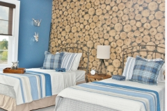 Custom Bedding for Twin Beds & Decorative Wall Treatment