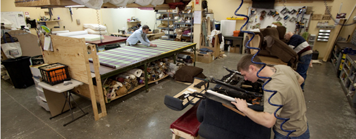 Classic Interiors On-Site Reupholstery Workroom