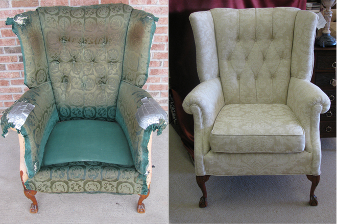 Reupholstery Gives Chair New Life